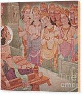 Gods Entertaining Mahavira Wood Print