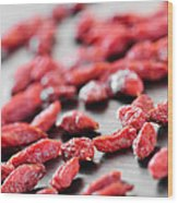 Goji Berries Wood Print