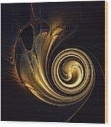 Golden Spiral Wood Print