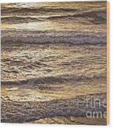 Golden Surf Wood Print