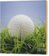 Golfball Wood Print