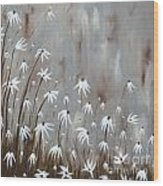 Gossamer Field Wood Print by Holly Donohoe