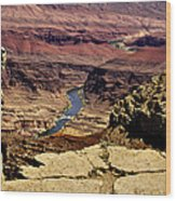 Grand Canyon Colorado River Wood Print