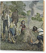 Grasshopper Plague, 1875 Wood Print