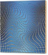 Gravity Waves In Space-time, Artwork Wood Print