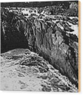 Great Falls Virginia Bw Wood Print
