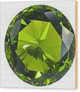 Green Gem Isolated Wood Print