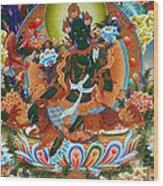 Green Tara 2 Wood Print