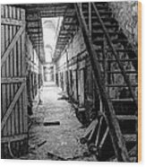Grim Cell Block In Philadelphia Eastern State Penitentiary Wood Print