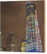 Ground Zero Freedom Tower Wood Print