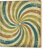grunge Rays background Wood Print