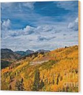 Guardsman Pass In The Fall Wood Print