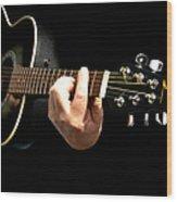 Guitar In Hands  Wood Print