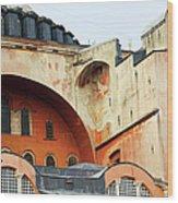 Hagia Sophia Byzantine Architecture Wood Print