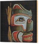 Haida Mask Wood Print