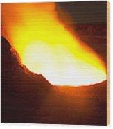 Halemaumau Crater Of Kilauea Volcano Wood Print