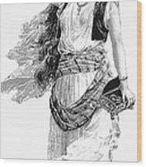 Harem Woman. 19th Century Wood Print