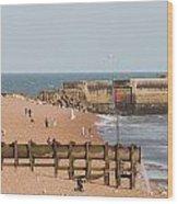 Hastings Beach Wood Print