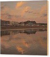 Hastings Sunset Wood Print