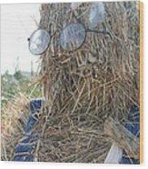 Hay Man Wood Print