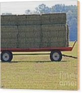 Hay Wagon Wood Print