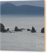 Haystack Rocks Wood Print