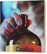 Hazardous Chemical Wood Print