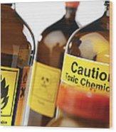 Hazardous Chemicals Wood Print