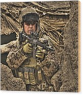 Hdr Image Of A German Army Soldier Wood Print
