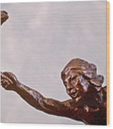 He Who Saved The Deer - Native American Youth Detail Wood Print
