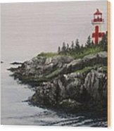 Head Harbour Lighthouse Wood Print
