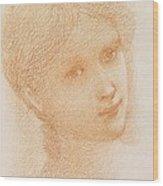 Head Study Of A Girl Wood Print