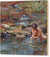 Healing Water Wood Print