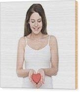 Healthy Heart Wood Print