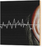 Hearing Wood Print