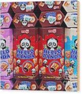 Hello Panda Biscuits Wood Print