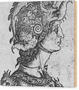 Helmet, 15th Century Wood Print