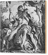 Hercules And Omphale Wood Print