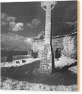 High Cross Wood Print