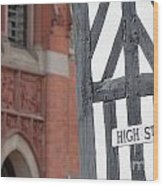 High Street Wood Print