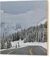 Highway 40 In Winter, Highwood Pass Wood Print