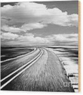 Highway Run Wood Print
