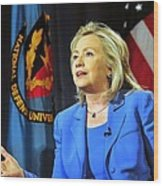 Hillary Clinton, Us Secretary Of State Wood Print by Everett
