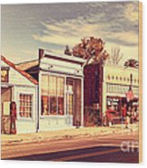 Historic Niles District In California Near Fremont . Main Street . Niles Boulevard . 7d10676 Wood Print by Wingsdomain Art and Photography