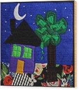 Home Wood Print by Ghazel Rashid