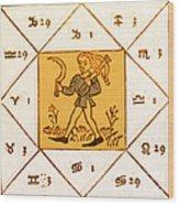 Horoscope Types, Engel, 1488 Wood Print