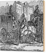 Horse Carriage, 1853 Wood Print