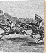 Horse Racing, 1900 Wood Print