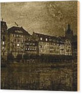 Hotel Schiff Wood Print by Ron Jones