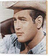 Hud, Paul Newman, 1963 Wood Print by Everett